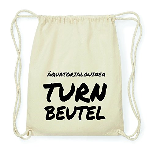 JOllify ÄQUATORIALGUINEA Hipster Turnbeutel Tasche Rucksack aus Baumwolle - Farbe: natur Design: Turnbeutel