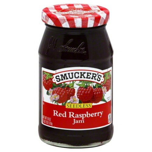 Smuckers Jam Seedless 18 Oz (Pack of 4) (Red Raspberry)