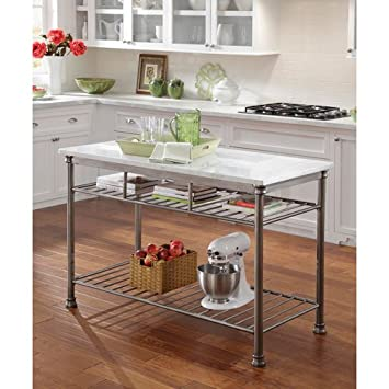 Amazon.com: Home Styles 5060-94 Orleans Kitchen Island with Quartz ...