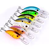 A-SZCXTOP Lot 7pcs 10.5cm 14g Fishing Lures Floating Bass Crankbaits Fishing ...