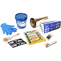 GTMat 50sqft PRO Sound Deadener Adhesive Mat and 1 Gallon Liqui-Damp Liquid Sound Deadener (Spray On/Brush On) Bulk Pack Installation Kit; Includes: One 18 x 33.33 Roll of GTMat Pro 50mil, Application Roller, Degreasing Agent, Two Decals, Application Brush for Liquid, Disposable Latex Gloves, Instructions
