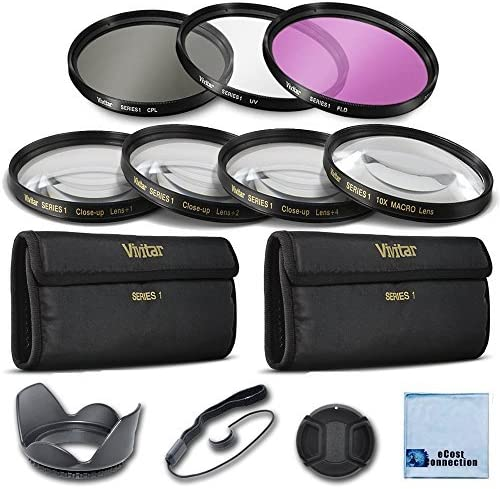 Universal Lens Cap Keeper Snap On Lens Cap For Canon EF 75-300mm f//4-5.6 III Vivitar 58mm Pro Series 4pc HD Macro Close Up Filter Set +1 +2 +4 +10 Vivitar 58mm High resolution Pro series Multi Coated HD 3 Pc Hard Tulip Lens Hood Digital Filter Set