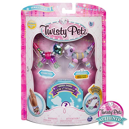 Twisty Petz Collectible Bracelet Set, Pony, Poodle & Surprise Pet 3-Pack