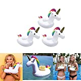 Easyinsmile Inflatable Unicorn Cup/Drink Holder Water Floating Holder for Swimming Pool or Beach Party Pack of 3 pcs