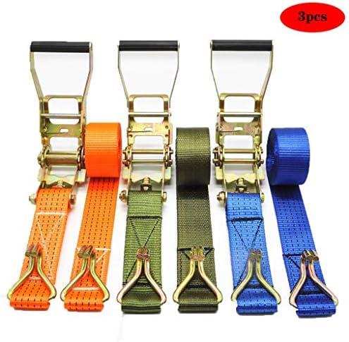 LQQGXL 定着ベルト ラチェットベルト、パッケージ3、3Tラチェットフック、結合ベルトテンショナー固定貨物タイ (Color : B)