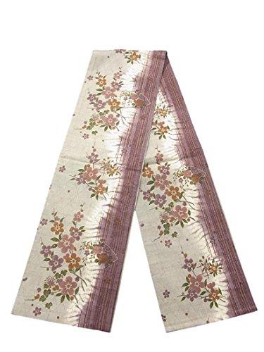 排出失う降伏リサイクル 袋帯 紬 枝梅や地紙に花模様や古典柄 正絹