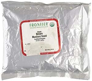 Frontier Bulk Whole Certified Organic Mustard Seed, Brown, 1 lb