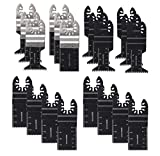 20 Mix Metal/wood Quick Release Oscillating Multitool Saw Blades Kit Fit Bi-Meta Blades Ideal for Fein Multimaster Porter Cable Black & Decker Bosch Ryobi Milwaukee Bosch Dremel Dewalt Rockwell Makita
