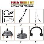 WAGX-Pulley-Cable-System-Fitness-LAT-e-Sollevamento-Pulley-System-Tricep-Corda-con-Fai-da-Te-Caricamento-Pulley-Sistema-Lunghezza-Regolabile-per-Home-Gym-Sport-Training