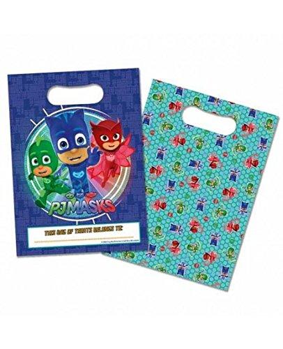 8 Bolsas de regalos azules PJ Masks 16.5 x 23 cm Generique SPVINP27159