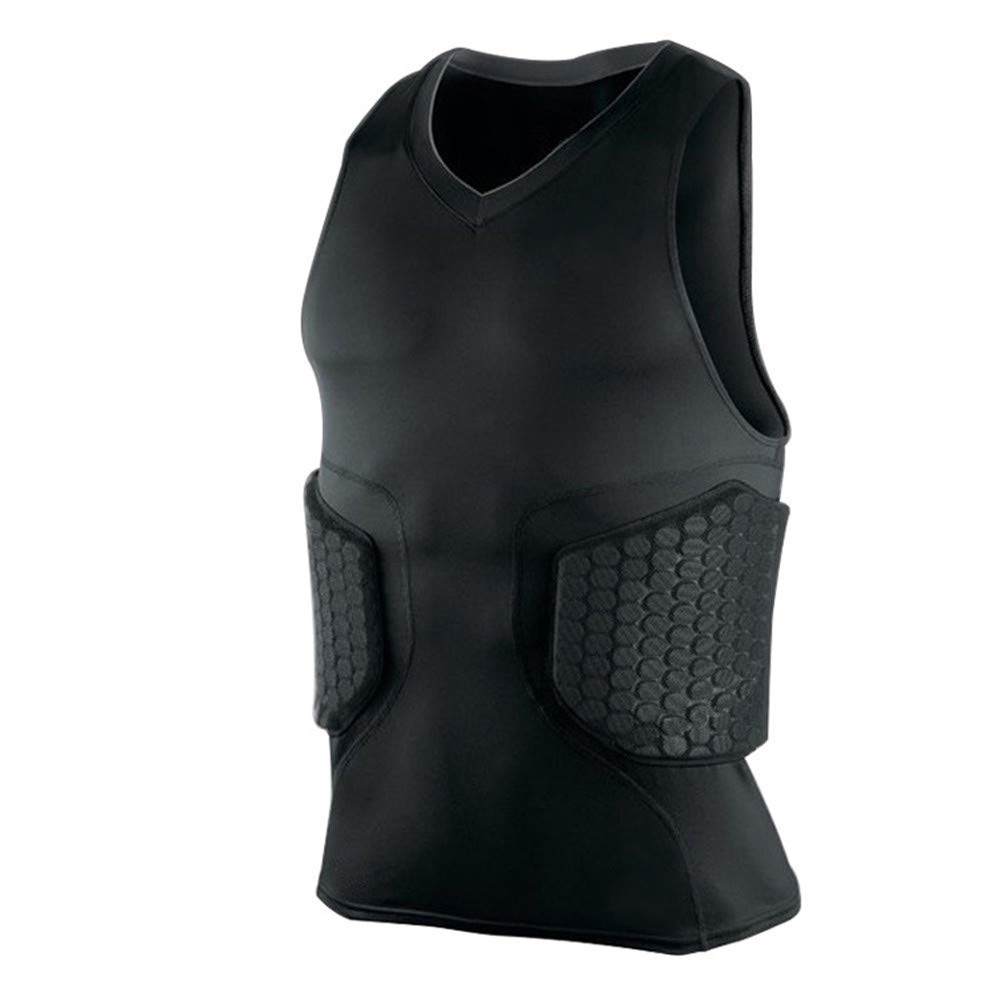 Quisilife Cycling Body Protector Anti-Collision Vest Hamper Football Sports Plus Breathable Body Armor Belt (Size : XXL)