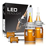 H7 LED Headlight Bulbs Autofeel 8000LM Super Bright Car Exterior White Light Built-in Driver Lamp All-in-One Conversion Bulb Kit with Cool White Lights - 1 Year Warranty
