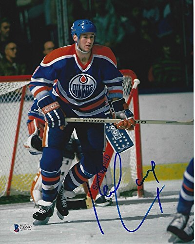 - Kevin Lowe Signed Edmonton Oilers 8x10 Photo with - Beckett Certified