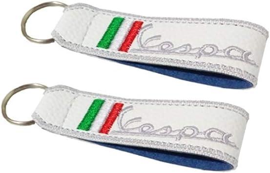 Vespa Doppelseitiger Schlüsselband Weiss 1 Stück Auto