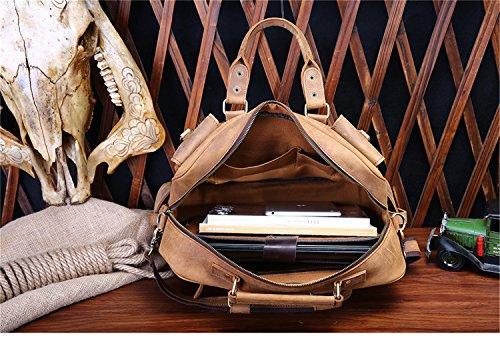 JOYIR , Borsa Messenger  Donna Crazy Horse Brown 40L x 27H x 8D inch