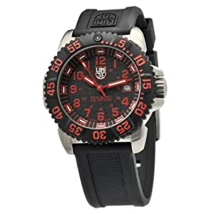Luminox Men's 3165 Stainless-Steel Analog Rubber Bezel Watch