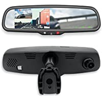 Master Tailgaters 4.3 LCD Rear View Mirror with 1080P 30FPS, 720P 60FPS HD DVR Recorder with Superior Night Vision + Wifi + Backup Camera Enabled