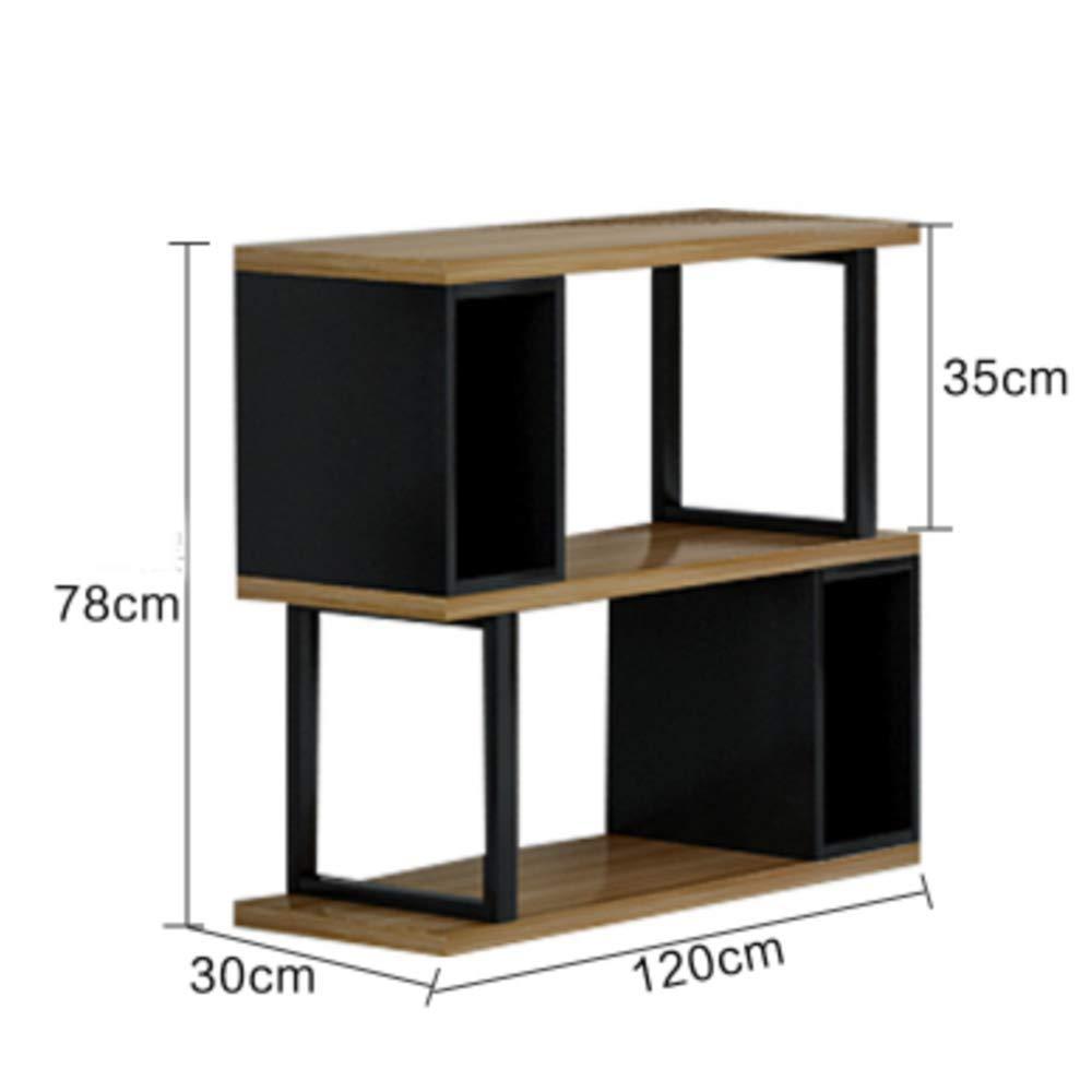 XIA シェルフ 保管ラック ストレージラック 2/3ティアSシェイプストレージユニット/本棚/書棚ホームオフィス家具 (色 : 2 tier, サイズ さいず : 120cm) B07HDKDJ4B 2 tier 120cm