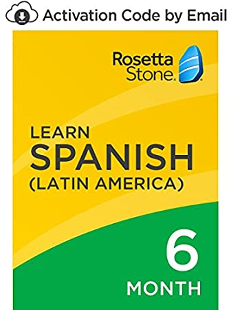 Rosetta Stone: Learn Spanish (Latin America) for 6 months on iOS, Android, PC, and Mac - mobile & online access [PC/Mac Online Code]