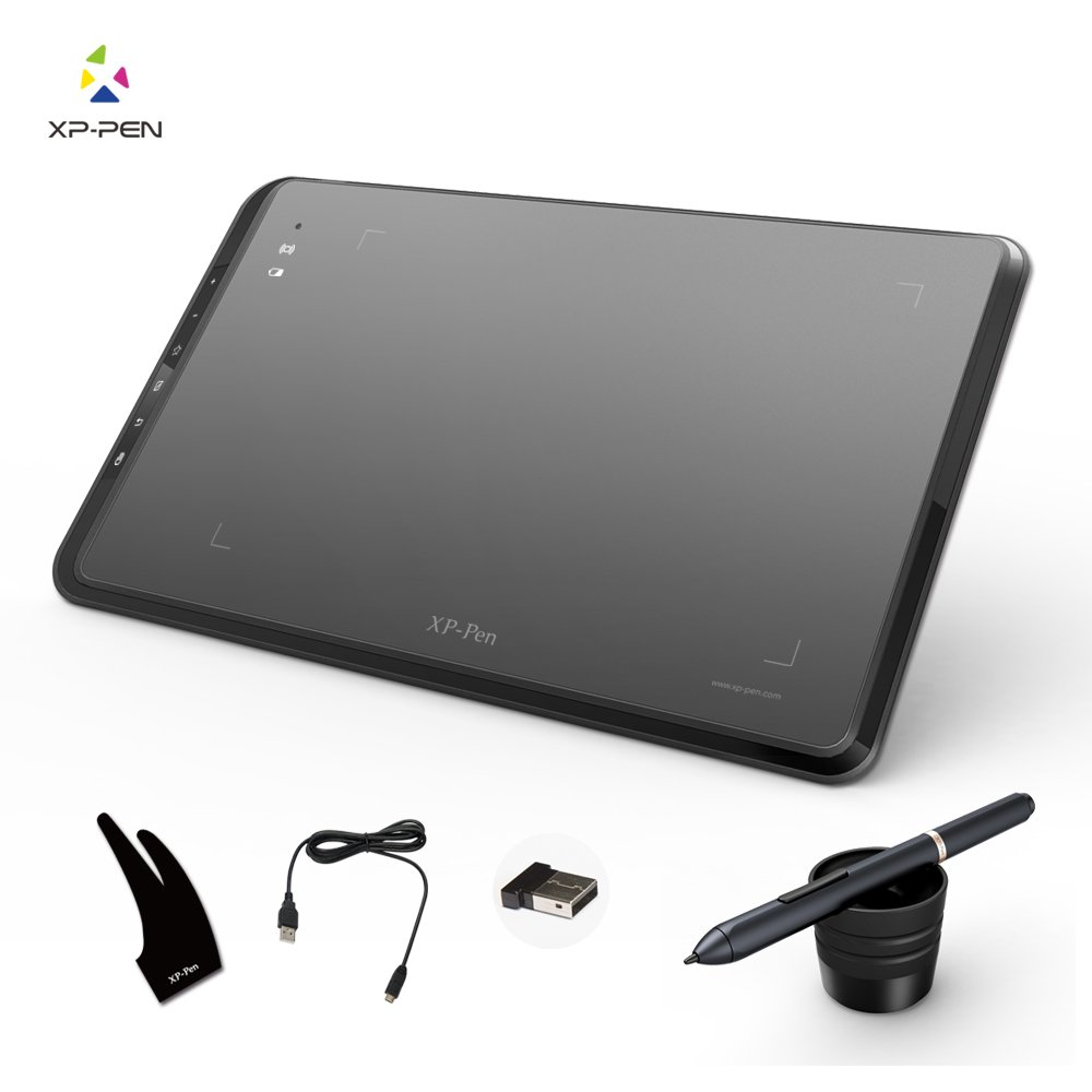 XP-Pen Star05 Wireless Battery-free Stylus Graphics Drawing Tablet/Drawing Board with Touch Express Keys