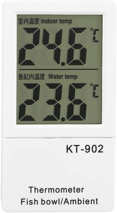 LCD Thermom/ètre Num/érique Aquarium Fish Tank Double Temp/érature Affichage M/ètre Alarme Maison