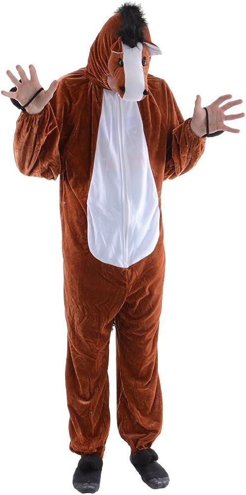 Disfraz de caballo para adulto, talla única: Amazon.es: Ropa y ...