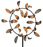 Regal Art & Gift Vortex Kinetic 33 inches x 12 inches x 91 inches Metal Stake - Leaves Garden Stakes