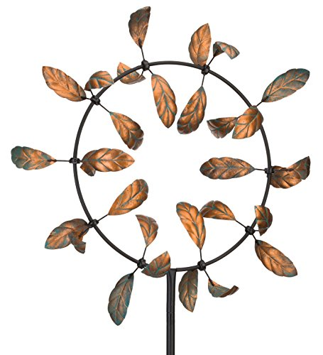 Regal Art & Gift Vortex Kinetic 33 inches x 12 inches x 91 inches Metal Stake - Leaves Garden Stakes by Regal
