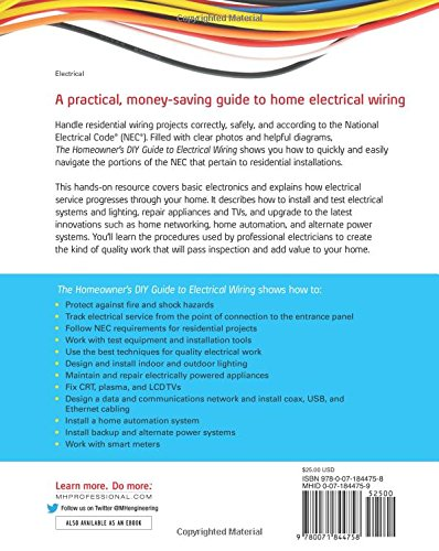 The Homeowner\'s DIY Guide to Electrical Wiring (Electronics ...