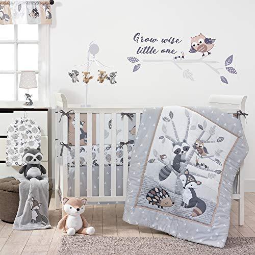 Bedtime Originals Little Rascals Forest Animals 3 Piece Crib Bedding Set, Gray/White from Bedtime Originals