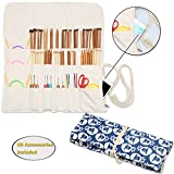 Teamoy Knitting Needles Holder Case(up to 14 Inches), Cotton Canvas Rolling Organizer for Straight and Circular Knitting Needles, Crochet Hooks and Accessories, Sheep --NO ACCESSORIES INCLUDED
