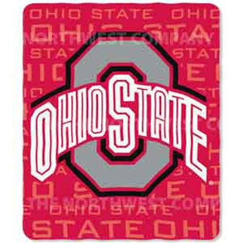- Ohio State Lightweight Rolled Throw Blanket