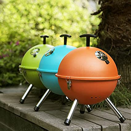 Bazaar Outdoor Portable BBQ Grill Round Charcoal Oven Barbecue Picnic Stove
