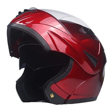 Amazon.es: Flip up Cascos de Motocicleta Adulto Dual Visor Sistema ...