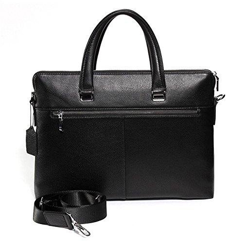 JUNBOSI Luxus Leder Herrenhandtasche Querschnitt Business Leder Herren Tasche Hochwertige Großraum Aktentasche Herren Ledertasche Schwarz SaGKg4