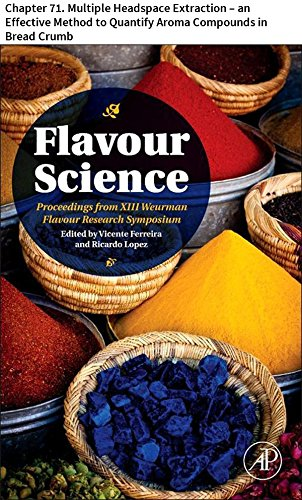 Flavour Science: Chapter 71. Multiple Headspace Extraction - an Effective Method to Quantify Aroma Compounds in Bread Crumb