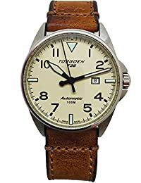 T38 Cream Automatic Watch | 44mm - Vintage Leather Strap