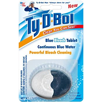 Amazon Com Toilet Bowl Cleaner Sanitizer 3 Blue Tablets