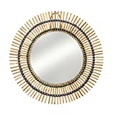 Natural Round Bamboo And Rattan Mirror 'Bamboo Reflections Mirror'