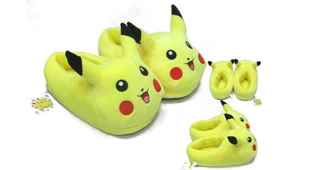 Amazon.com: Pokemon Pikachu Kids/Toddler Plush Slipper - Fit up to 8