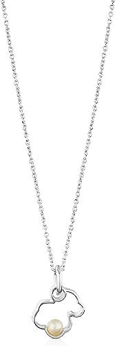 Collar TOUS Silueta de plata de primera ley con perla.