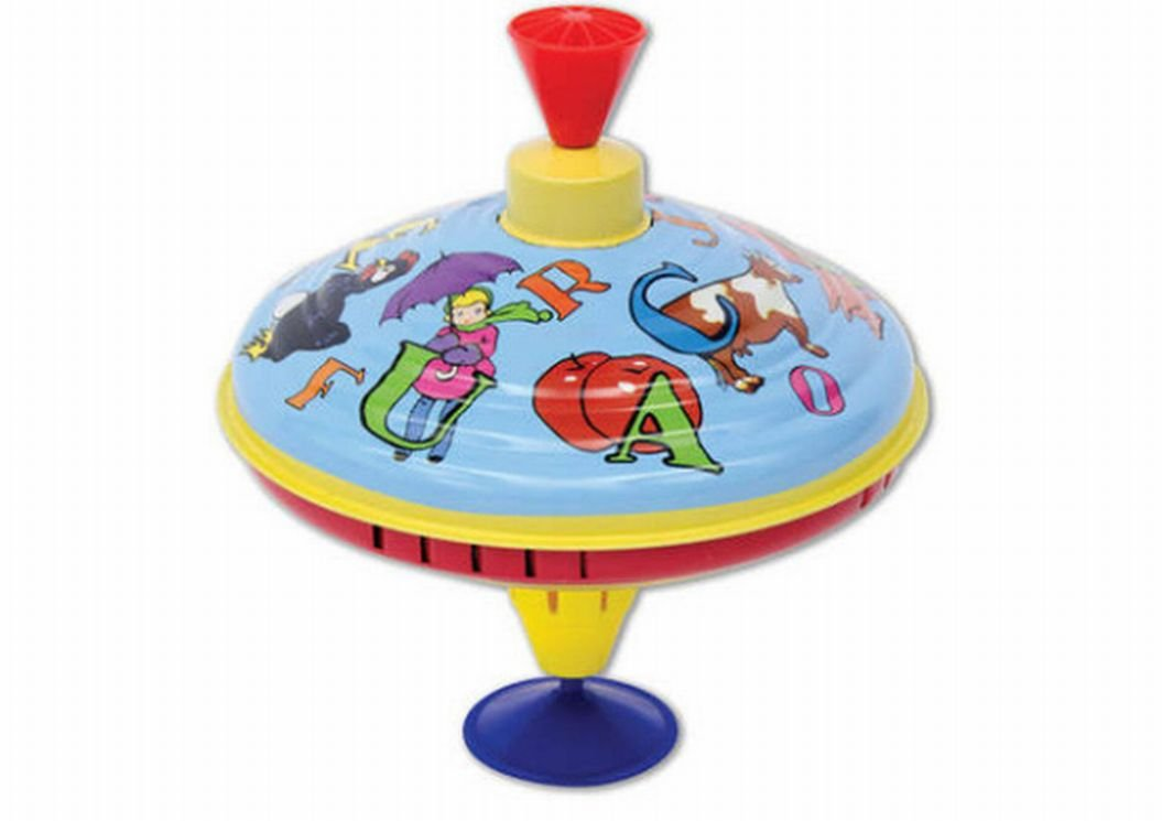 Schylling Spinning Top With Humming Sounds ABC Metal Top B015NBLMRA
