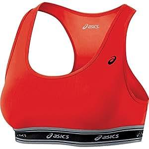 ASICS Women's Compression Team Bra, Red, Small
