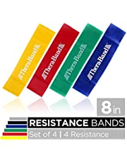 TheraBand Resistance Band Loop Set, Pack of 4, Resistance Bands for Kids, Small 8 Inch Band Loop Kit for Workouts, Beginner to Advanced Levels for Exercise, Rehab, Physical Therapy, & Stretching