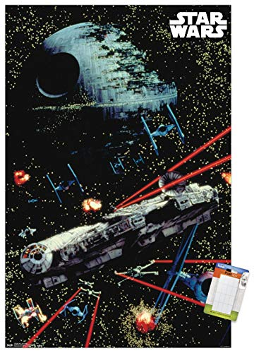 Trends International Star Wars: Saga-Space Battle Mount Wall Poster, 22.375