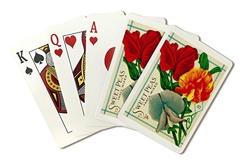 Sweet Peas (fancy mixed) Seed Packet (Playing Card Deck - 52 Card Poker Size with Jokers)