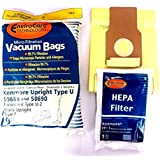 Kenmore 50688 Vacuum Bags Microfiltration with Closure Panasonic U-2 Vacuums. (10 Bags & 1 EF1 86889 Filter)