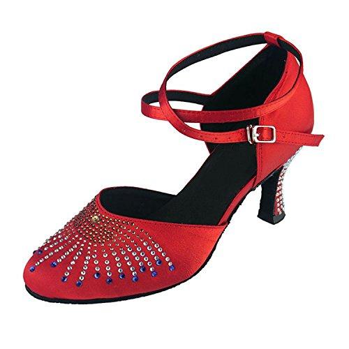 Miyoopark ,  Damen Tanzschuhe , rot - Red-7cm heel - Größe: 35