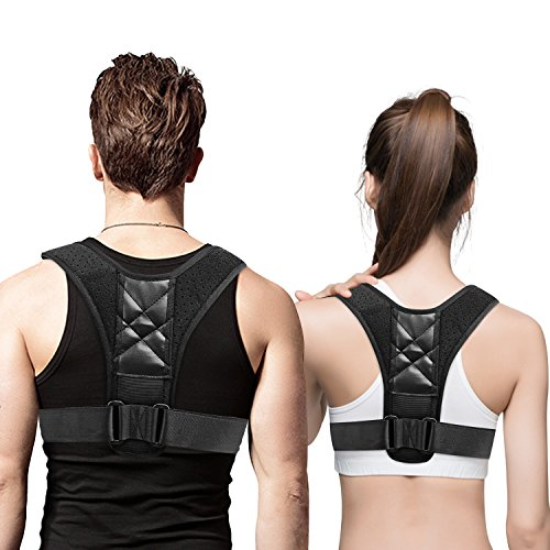 Back Posture Corrector,Monstleo Adjustable Back Support for Women Men Kids with 28\