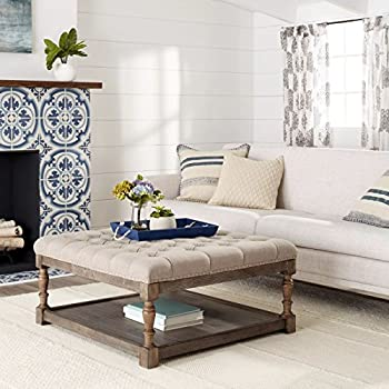 Tufted Ottoman Coffee Table Centerpiece Suitable For Living Rooms. Large  Storage Bench Provides Comfort And